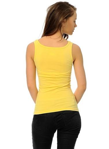 Grip Bisiklet Yaka Kolsuz Tişört Sarı